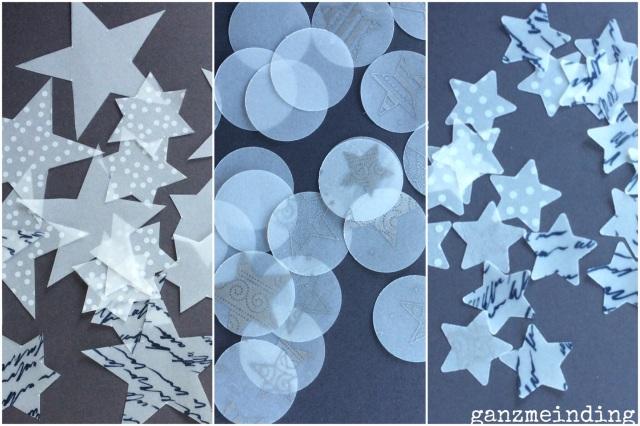 Sternenregen ausgestanzte Teile