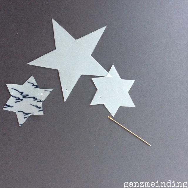 Sternenregen Löcher pieken