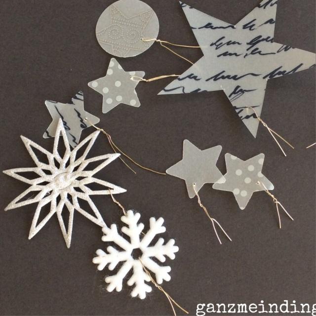Sternenregen Draht anbringen
