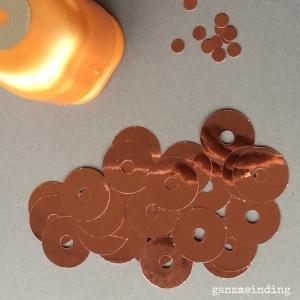 Kupfer gestanzt