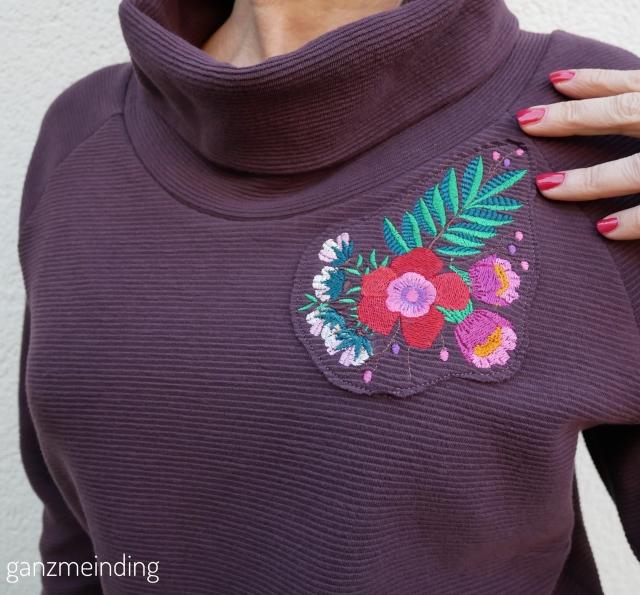 ganzmeinding: Frau Polly von fritzi schnittreif mit stickerei bouquet von Lila-Lotta 04