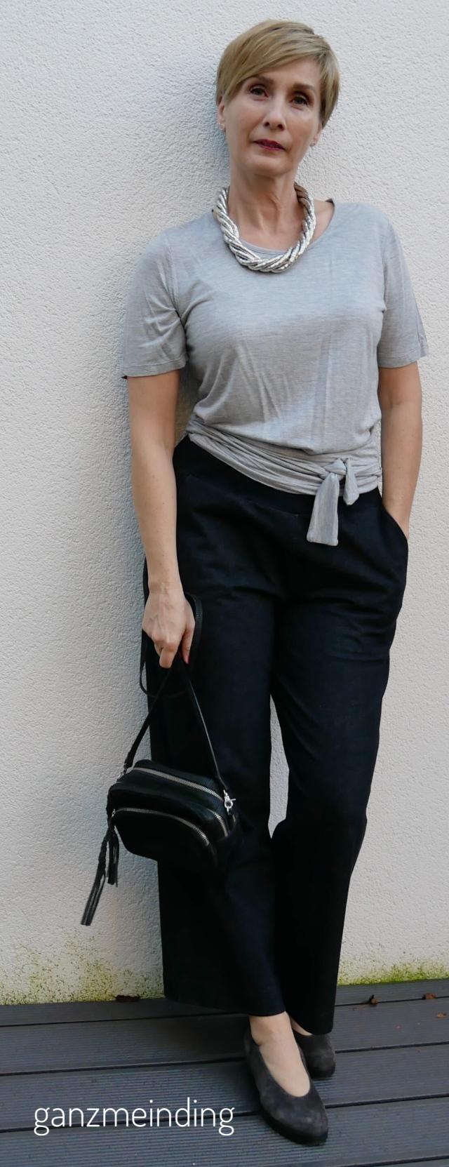 Weite Hose und Shirt mit Bindebändern,  die Komplizin, genäht von ganzmeinding 01