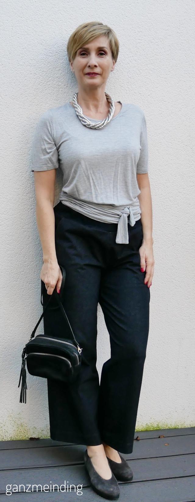 Weite Hose und Shirt mit Bindebändern,  die Komplizin, genäht von ganzmeinding 02