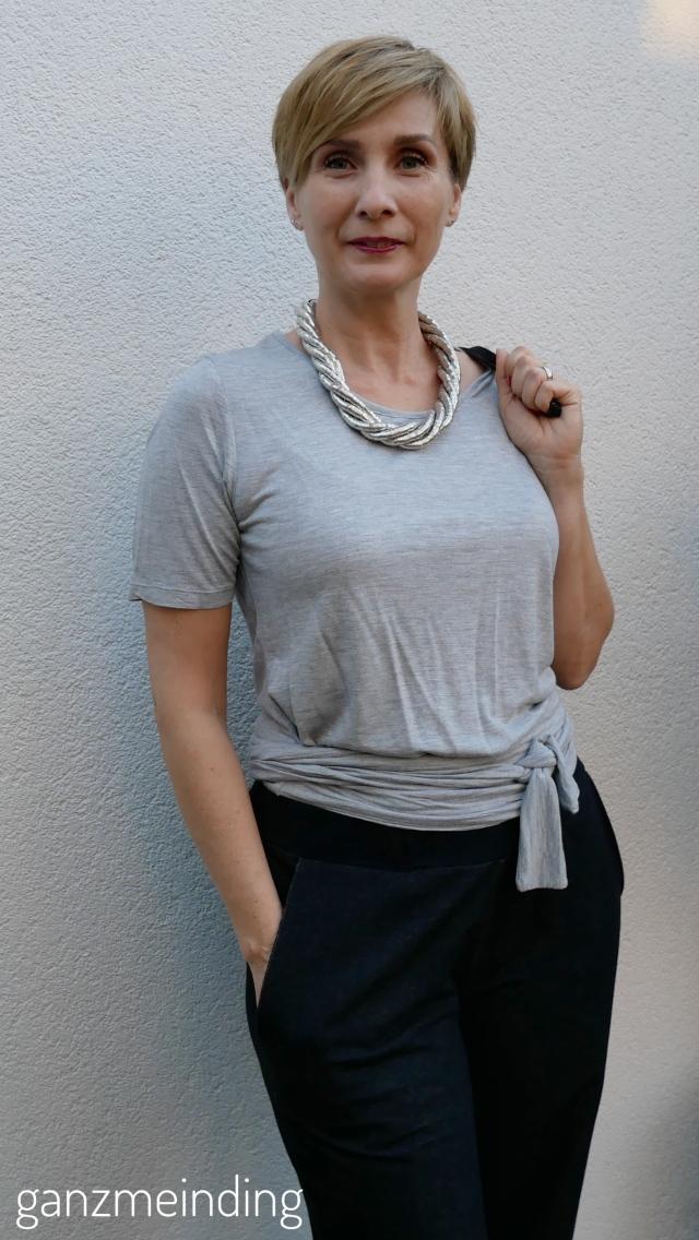 Weite Hose und Shirt mit Bindebändern,  die Komplizin, genäht von ganzmeinding 03