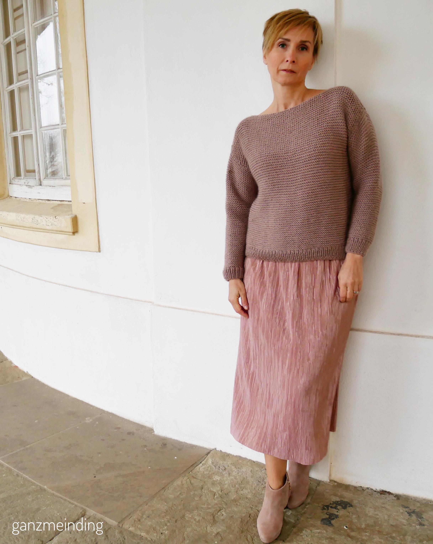 Plisseerock und Dalston Sweater von We are knitters genäht von ganzmeinding 01