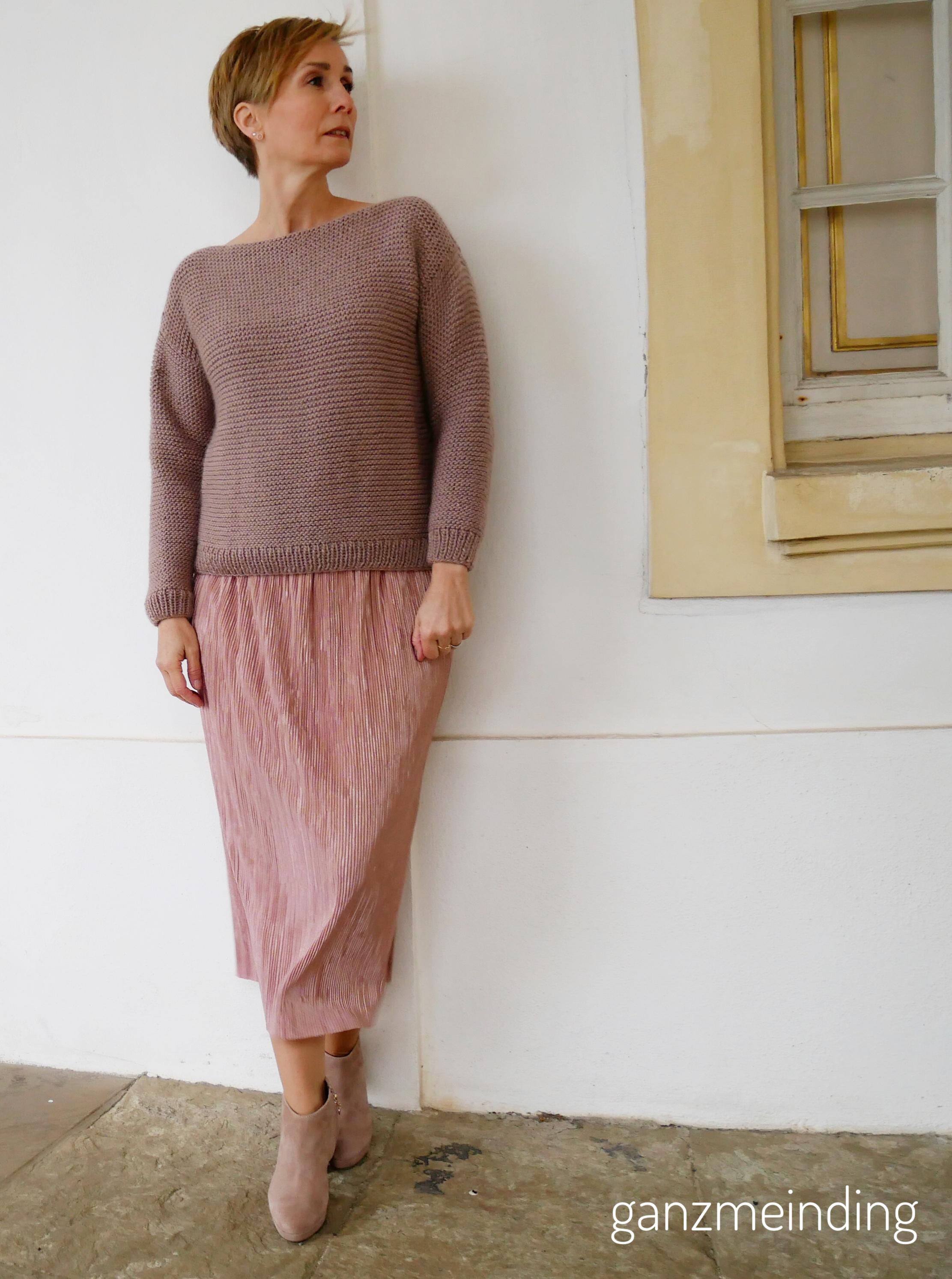 Plisseerock und Dalston Sweater von We are knitters genäht von ganzmeinding 08