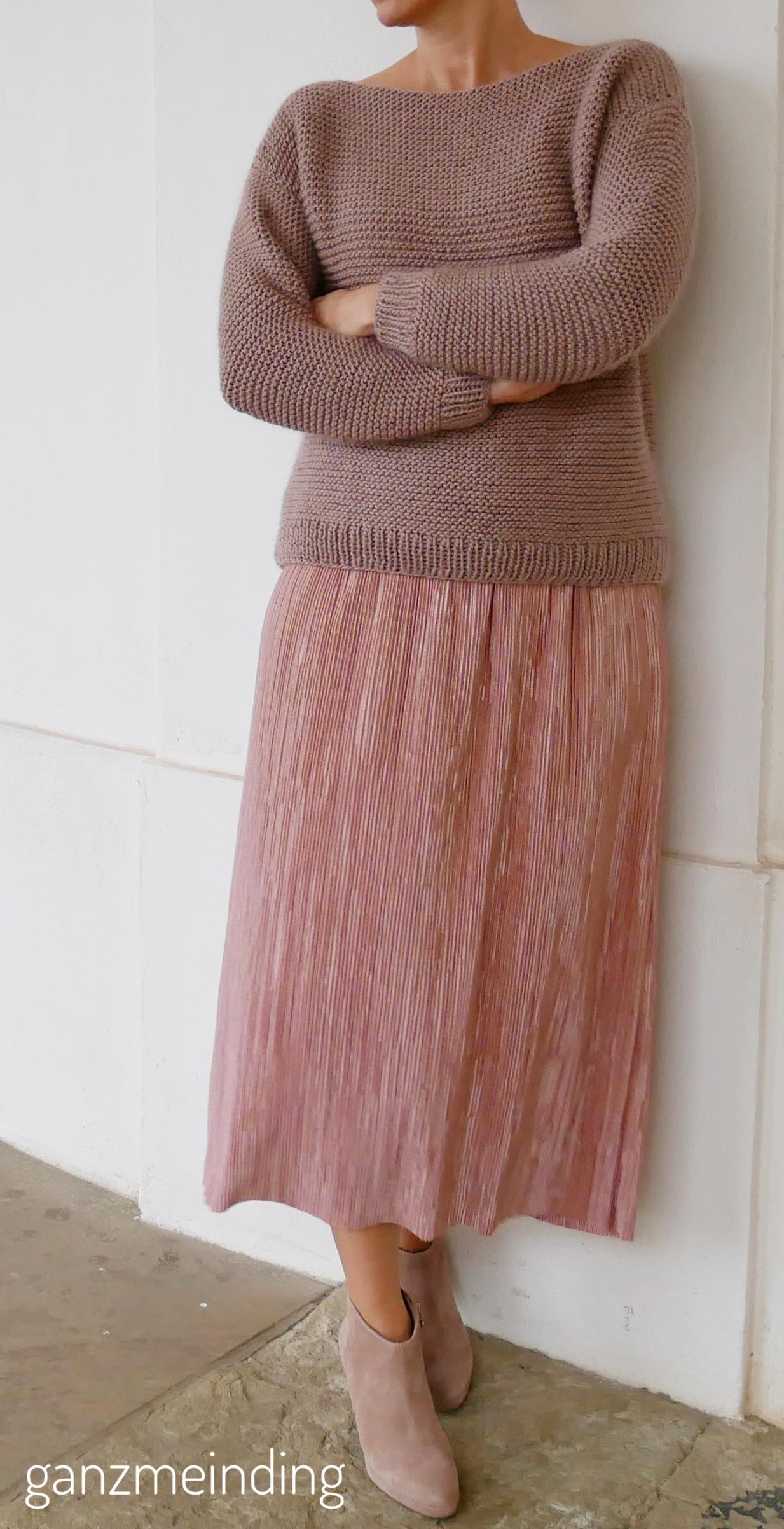 Plisseerock und Dalston Sweater von We are knitters genäht von ganzmeinding 07