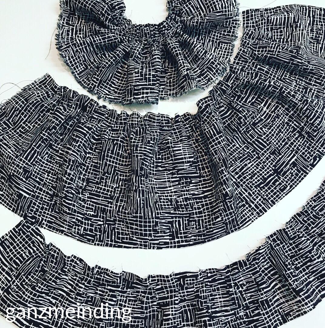Kleid mit Rüschen, Dana Lübke, Tutorial Ruffler Bernina, ganzmeinding 11