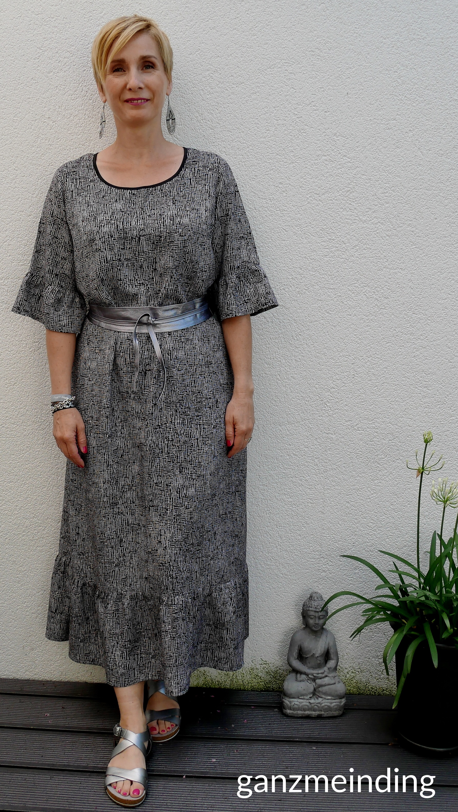 Kleid mit Rüschen, Dana Lübke, Tutorial Ruffler Bernina, ganzmeinding 22