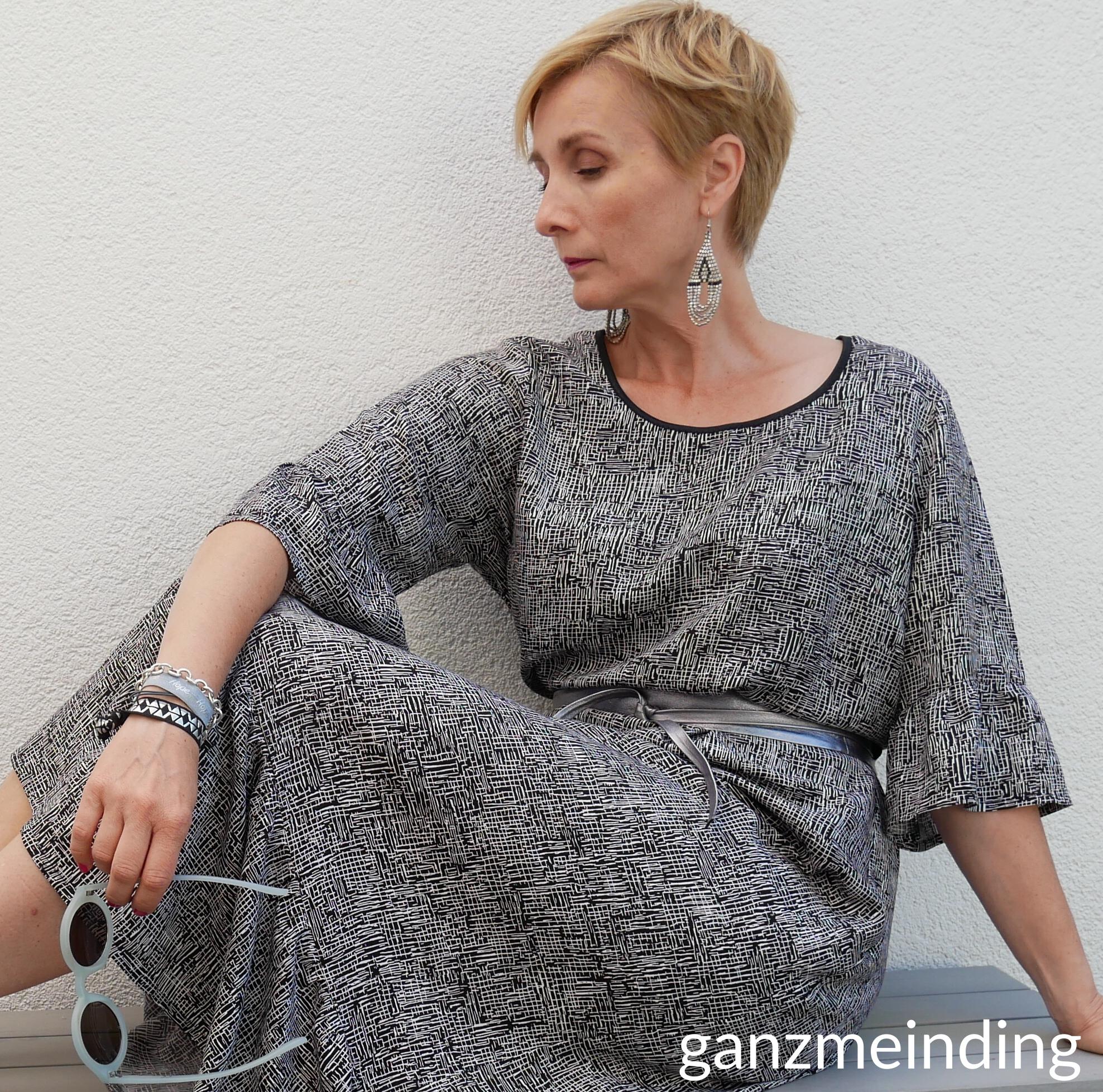 Kleid mit Rüschen, Dana Lübke, Tutorial Ruffler Bernina, ganzmeinding 20
