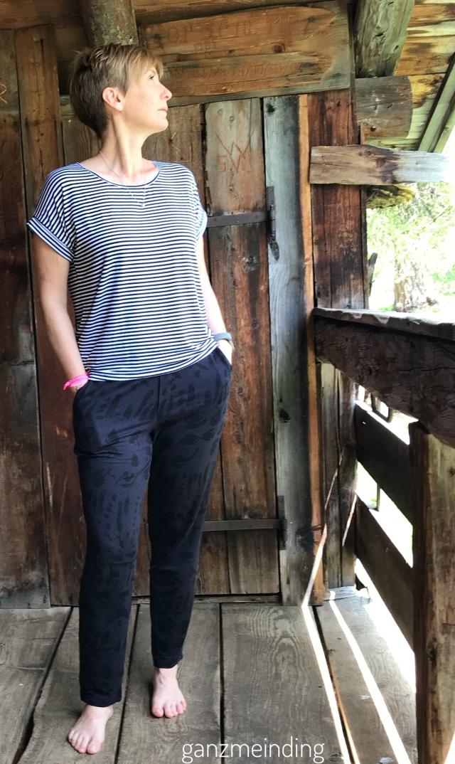 Frau Paula von Hedi näht, Shirt Odette la Maison Victor, genäht von ganzmeinding 01