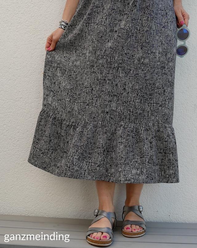 Kleid mit Rüschen, Dana Lübke, Tutorial Ruffler Bernina, ganzmeinding 01