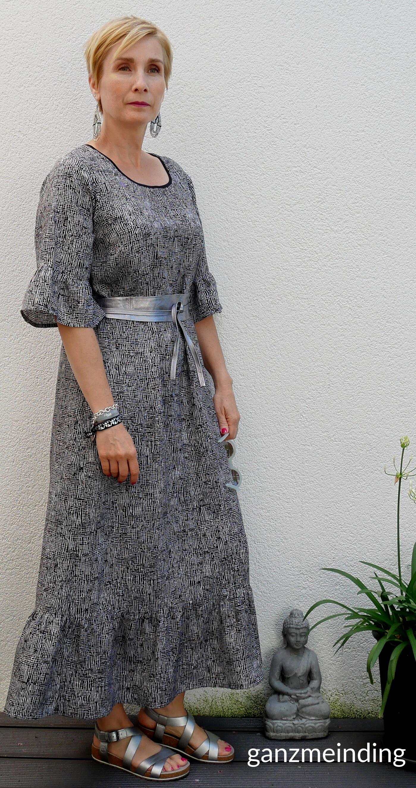 Kleid mit Rüschen, Dana Lübke, Tutorial Ruffler Bernina, ganzmeinding 25