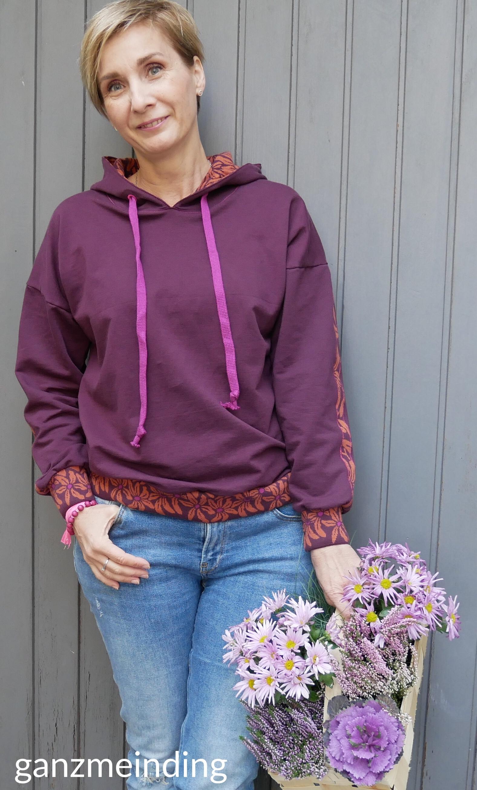 ganzmeinding: Flur Hello Heidi Fabrics, Hoodie 01 die Komplizin 03