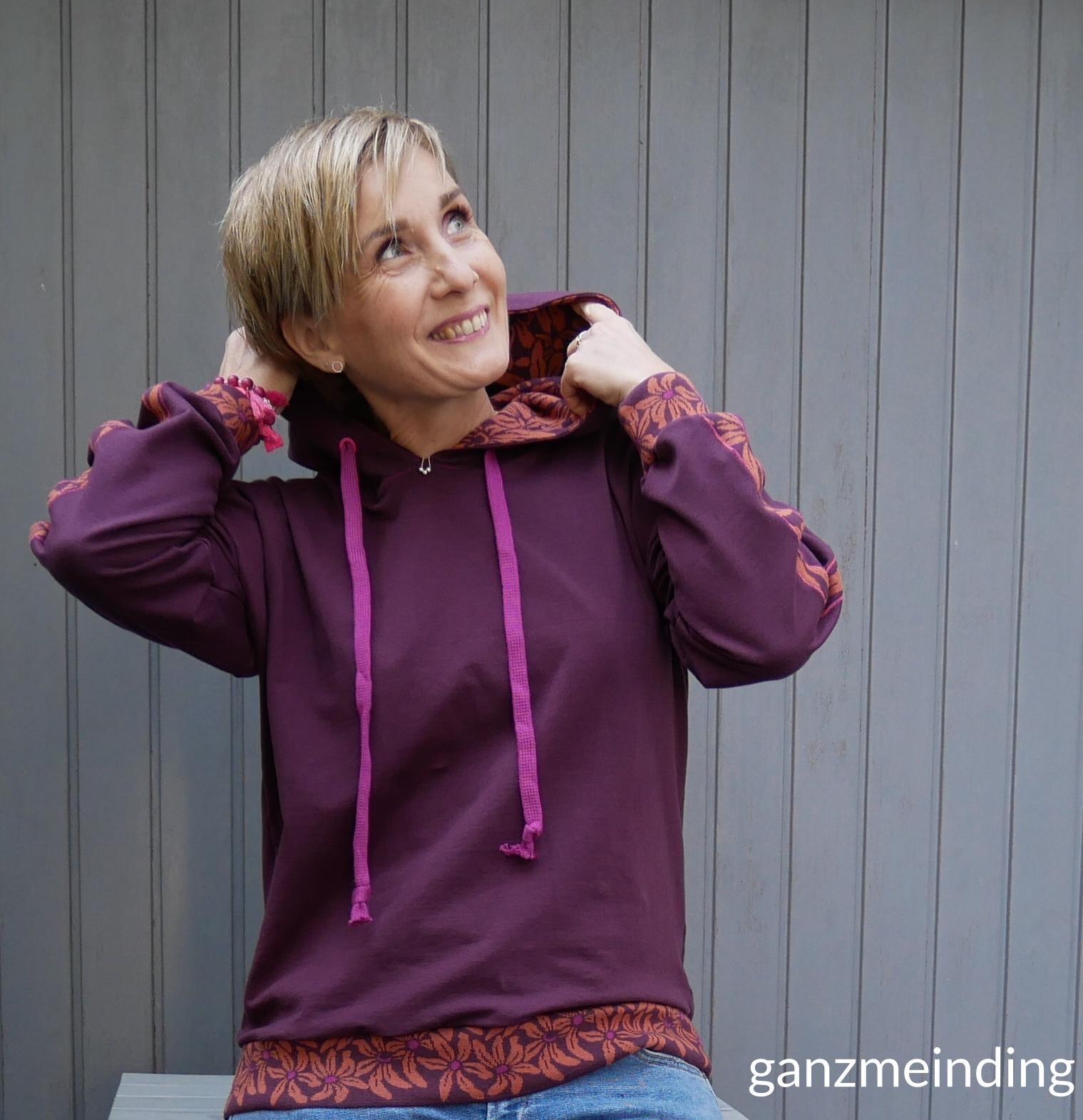 ganzmeinding: Flur Hello Heidi Fabrics, Hoodie 01 die Komplizin 02