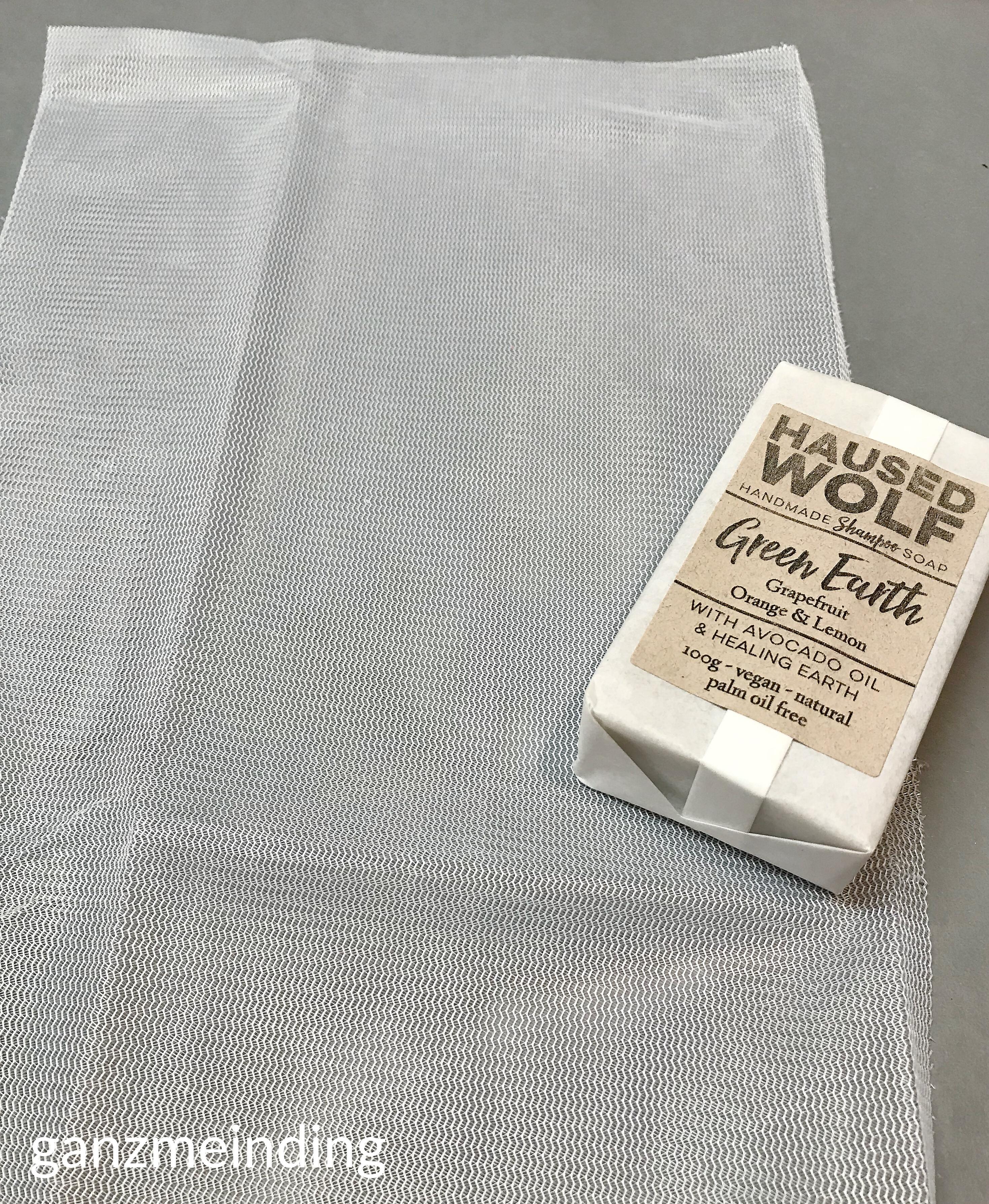 ganzmeinding: gratis Tutorial Seifensäckchen nähen, Seifen Haused Wolf 11