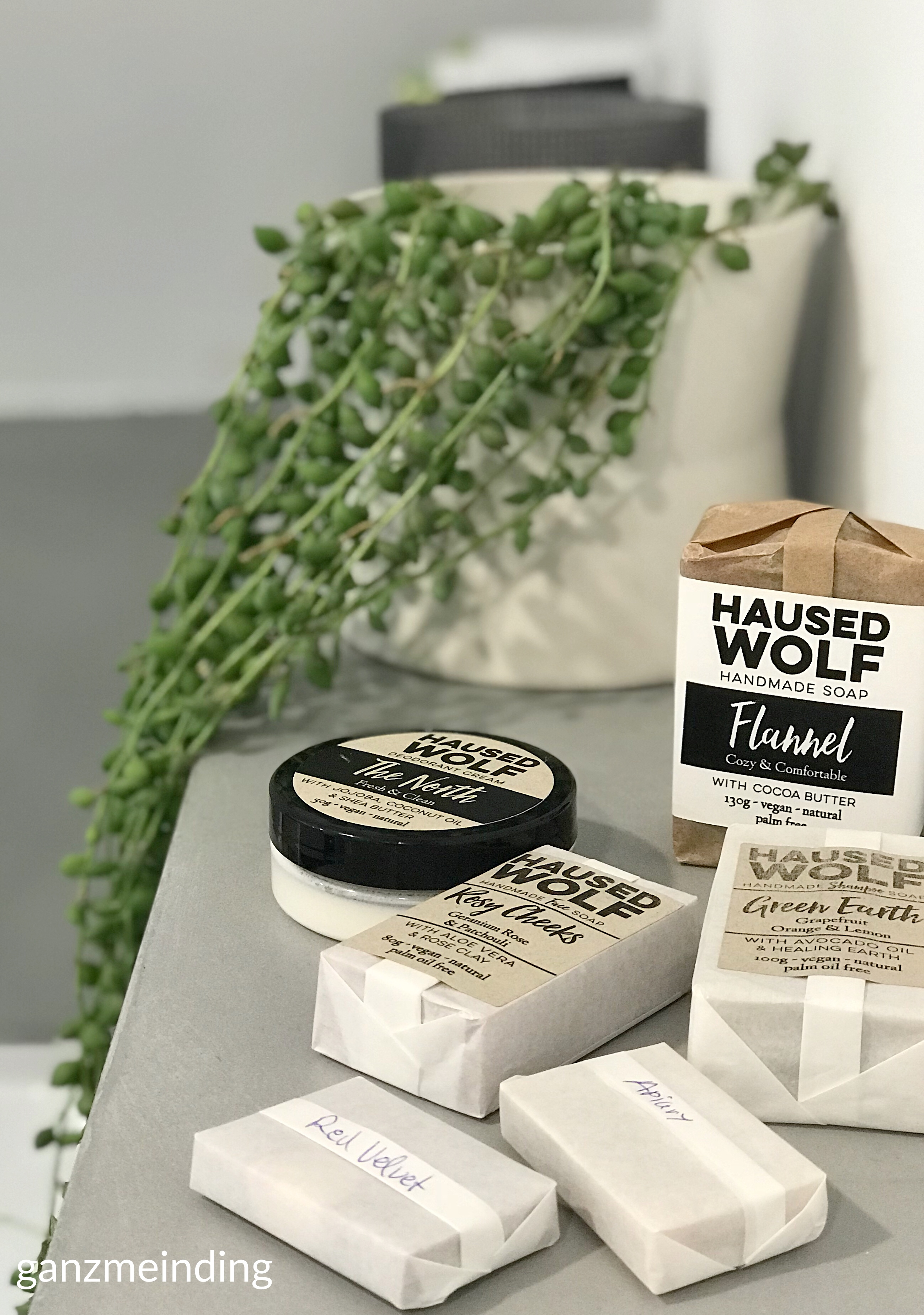 ganzmeinding: gratis Tutorial Seifensäckchen nähen, Seifen Haused Wolf 01